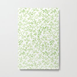 Leaves and Berries | Original Greenery Palette Metal Print