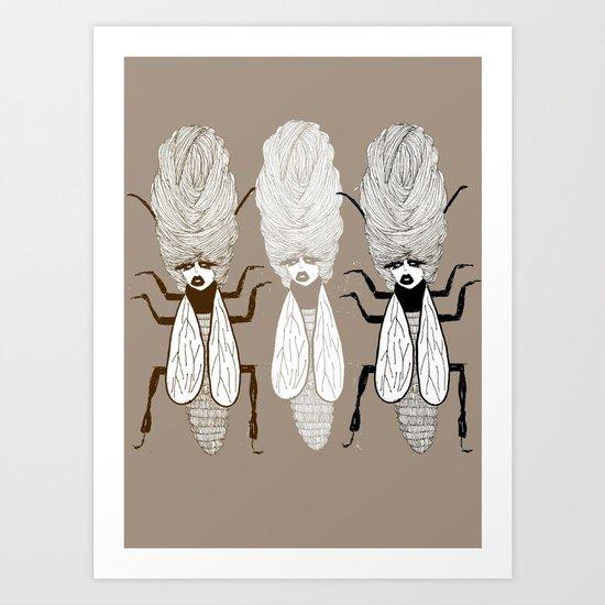 Queen Beehive Art Print