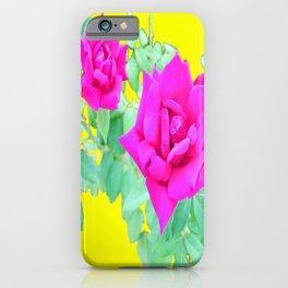 Magenta Rose  iPhone Case