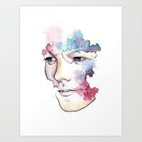 louis tomlinson Art Prints featuring Louis Tomlinson by bellavigg