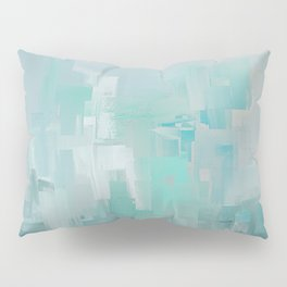Cool Ocean Breeze Abstract Expressions Pillow Sham