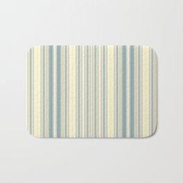Seafoam Green Yellow Stripes Bath Mat