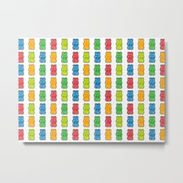 Rainbow Gummy Bears Metal Print