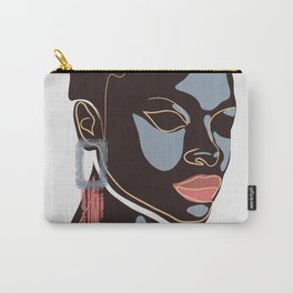 Black girl, Melanin queen, African American women, dark skin girl, afro female Carry-All Pouch