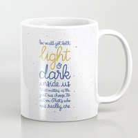 snape Mugs featuring Light and dark inside us by Earthlightened