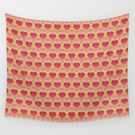 Peace and love pattern Wall Tapestry