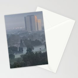 A Foggy Morning in Burbank CA Stationery Cards