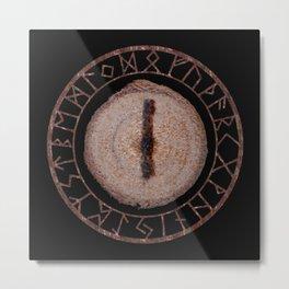 Isa - Elder Futhark rune Metal Print