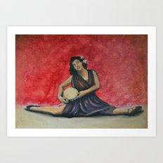 Folk Ballet Art Print