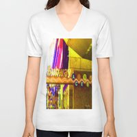 subway V-neck T-shirts featuring Subway NYC by Bettie Blue Design
