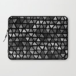 Triangle Watercolor Seamless repeating Pattern - Black and White Laptop Sleeve