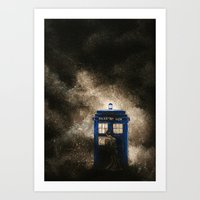 dr who Art Prints featuring Dr. Who by Redeemed Ink by - Kagan Masters