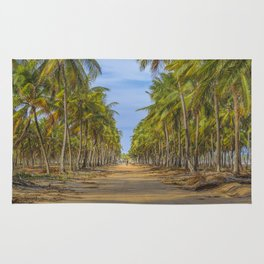 Topical Landscape Scene at Porto Galinhas Brazil Rug