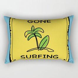 Gone Surfing Rectangular Pillow