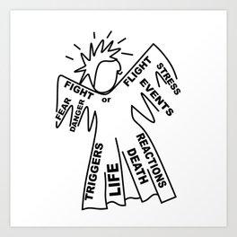 Anxiety Angel - Zine Art - Doodle Art Print