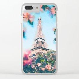 Paris 2 Clear iPhone Case