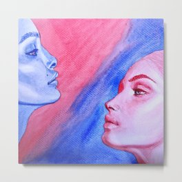 Red Meets Blue Metal Print