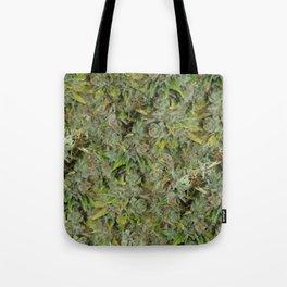 cannabis bud, marijuana macro Tote Bag