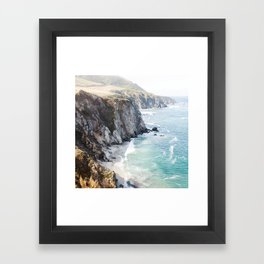 Big Sur California Beach Framed Art Print