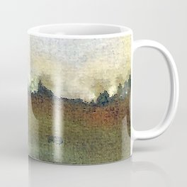 English countryside watercolour and ink landscape painting Coffee Mug