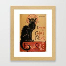 Le Chat Noir The Black Cat Poster by Théophile Steinlen Framed Art Print