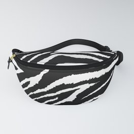 Animal Print Zebra Black and White Fanny Pack