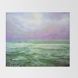 Wave Meditation by Amanda Martinson Throw Blanket