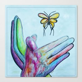 American Sign Language BUTTERFLY Canvas Print