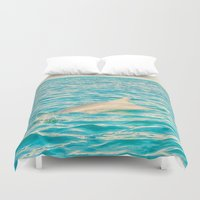 dolphin Duvet Covers featuring Dolphin by nikki-e