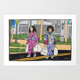 Broad City in Florida Art Print