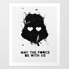 may the force be with us Art Print