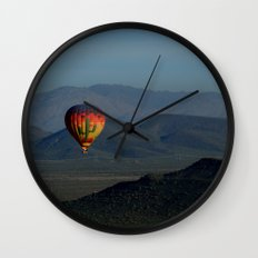 Hot Air Balloon over Arizona Morning Wall Clock