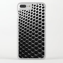 Stainless Steel Circles with Black Clear iPhone Case