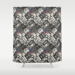 Video Game Controllers in True Colors Shower Curtain