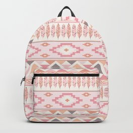 Pink Boho Tribal Aztec Backpack