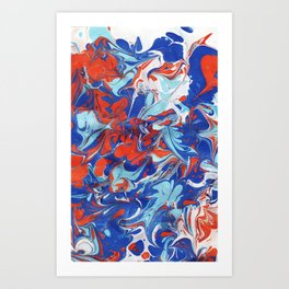 Hundred Kisses - Marbled Paper Series Art Print