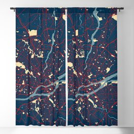 Nantes City Map of France - Hope Blackout Curtain