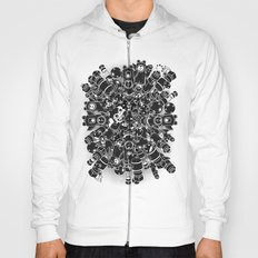 For Good For Evil - Black on White Hoody