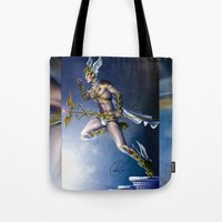 versace Tote Bags featuring VERSACE GOD by CARLOSGZZ