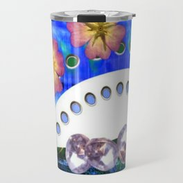 Flowers and Diamonds Travel Mug