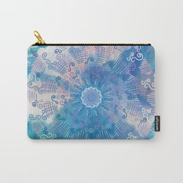 Tropical Mandala (blue) Carry-All Pouch