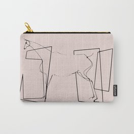 Horse line art minimalism Carry-All Pouch