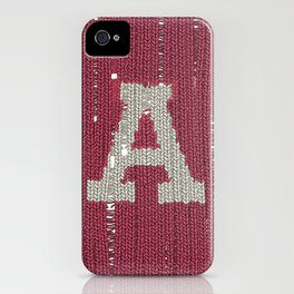 Winter clothes II. Letter A iPhone Case