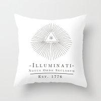 illuminati Throw Pillows featuring Illuminati by Fabian Bross