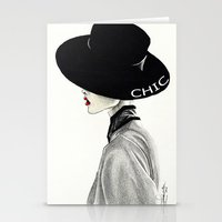 chic Stationery Cards featuring Chic by Tania Santos