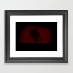 Tree in a shadow Framed Art Print