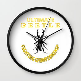 Ultimate Beetle Fighting Championships Insect Fighting Hercules Rhinoceros Pet Matches Wall Clock