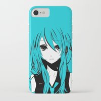 vocaloid iPhone & iPod Cases featuring Miku in a stream of colors by DPain