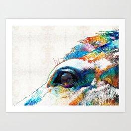 Colorful Horse Art - A Gentle Sol - Sharon Cummings Art Print