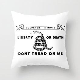 Culpeper Minutemen flag - Authentic version Throw Pillow
